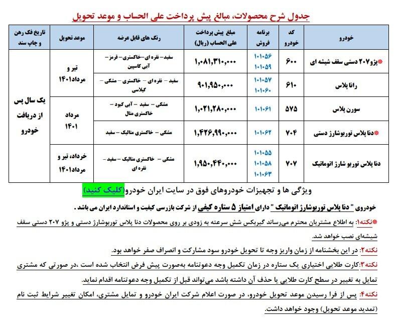 پیش فروش ایران خودرو ۱۴۰۰ آغاز شد + لینک، قیمت محصولات و جزییات