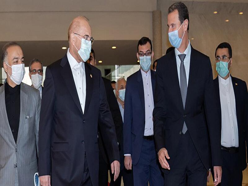رئیس مجلس با بشار اسد دیدار کرد