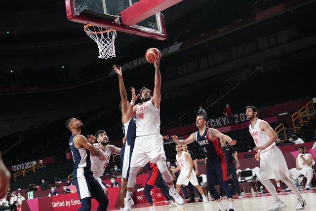 ایران ۶۲ - فرانسه ۷۹/ پایان کار بسکتبال ایران در توکیو با سه شکست