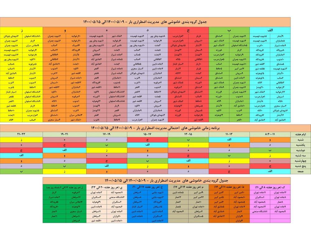 قطعی برق اصفهان