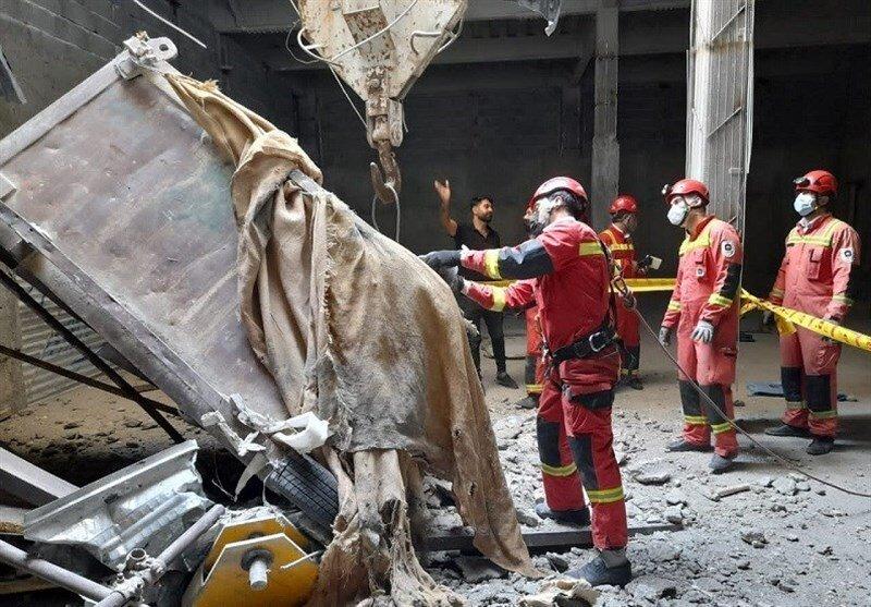 مرگ ۲ کارگر بر اثر سقوط کابین فلزی در پروژه ساختمانی + تصاویر