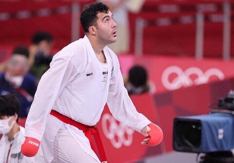 گنجزاده با قطعی کردن مدال برنز به نیمه نهایی صعود کرد