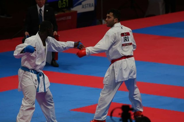 سجاد گنج زاده فینالیست رقابت های کاراته المپیک شد