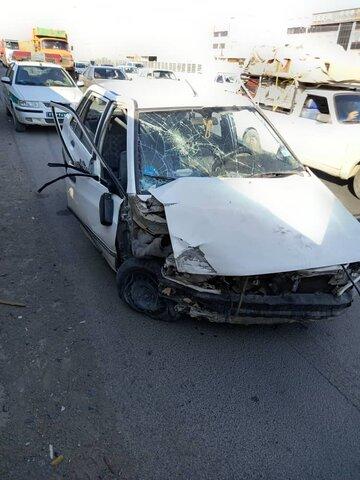 تصادف دو خودروسواری در بلوار نصر شیراز
