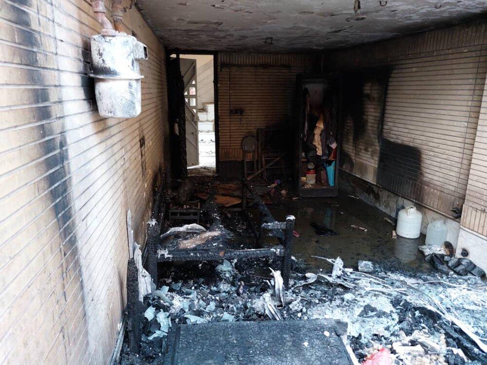 آتشسوزی هولناک در یک منزل مسکونی در جی+ عکس