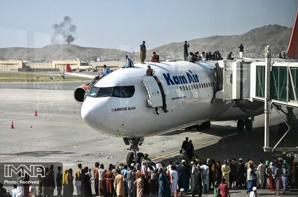 جلوگیری از فرود هواپیمای شهروندان تخلیه شده از کابل