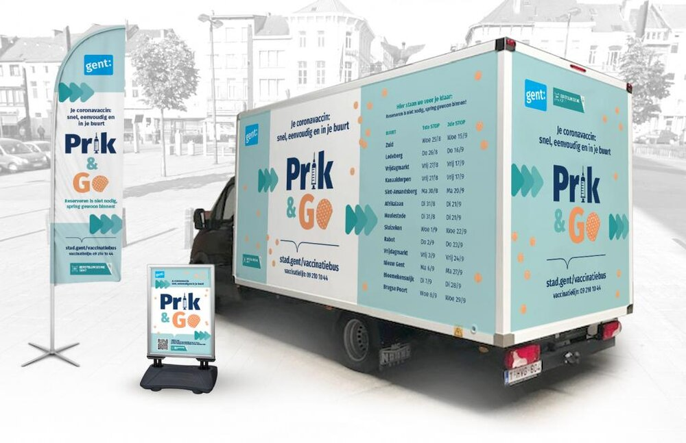 بلژیک اتوبوسهای واکسیناسیون کرونا را در خیابانها به گردش میآورد