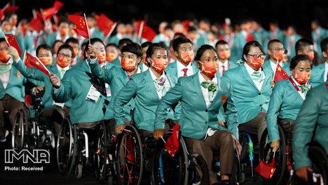 ورزشکاران چینی در رژه افتتاحیه  پارالمپیک توکیو 2020