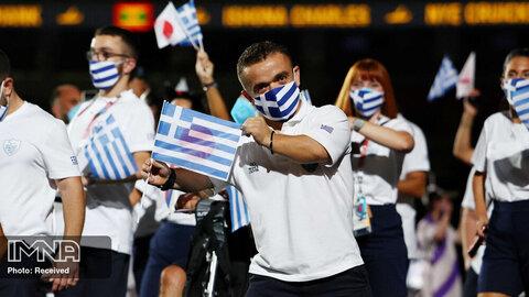 رژه کاروان یونان در پارالمپیک