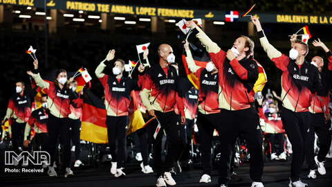 ورزشکاران آلمان در رژه افتتاحیه  پارالمپیک توکیو 2020