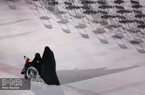 ورزشکاران زن ایرانی در رژه پارالمپیک