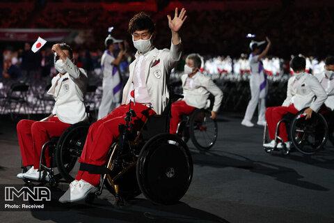 رژه تیم ژاپن  در افتتاحیه پارالمپیک
