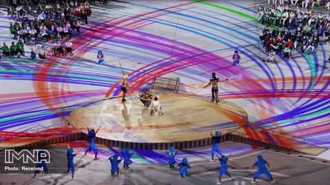 اجرای حرکات نمایشی در مراسم پارالمپیک