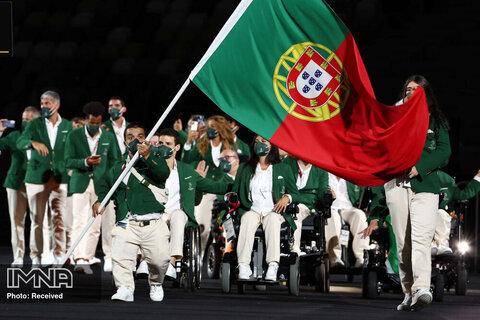 میگل مونتیرو و بئاتریس مونتیرو پرچمداران تیم پرتغال