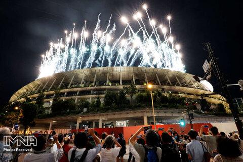 عکسبرداری مردم مشتاق افتتاحیه پارالمپیک 2020