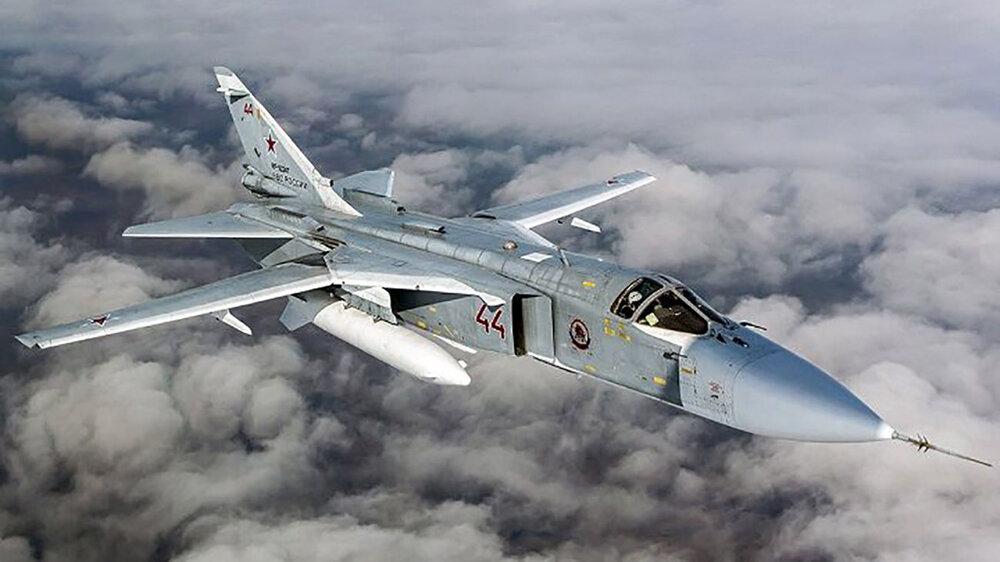 سقوط یک فروند بمب افکن سوخوی روسیه