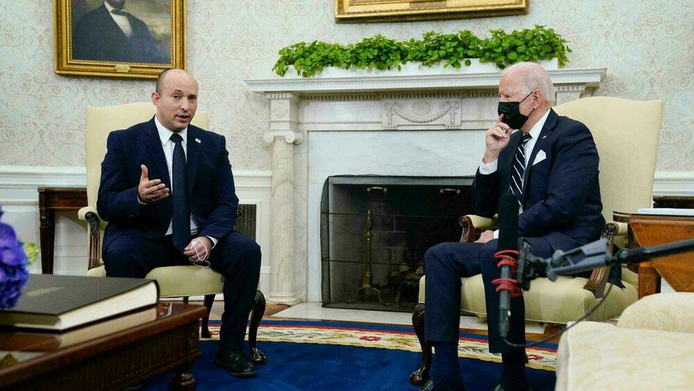 چرت زدن بایدن در دیدار با نخست وزیر اسرائیل