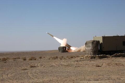 غرش موشکهای بومی مرصاد ۱۶ در آسمان اقتدار دفاعی ایران