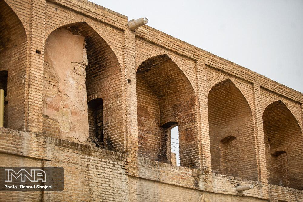 زخم فرونشست بر پیکر پلهای تاریخی اصفهان