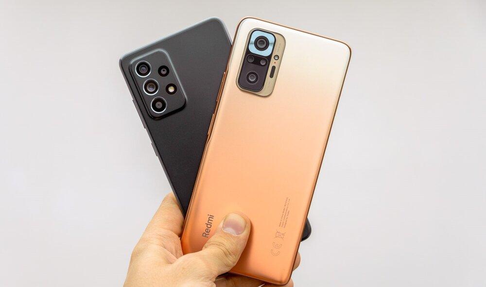 مقایسه گوشی شیائومی Redmi Note 10 Pro و سامسونگ Galaxy A52+ لیست جزئیات