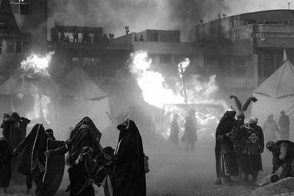 آیین خیمه سوزانی خمینی شهر
