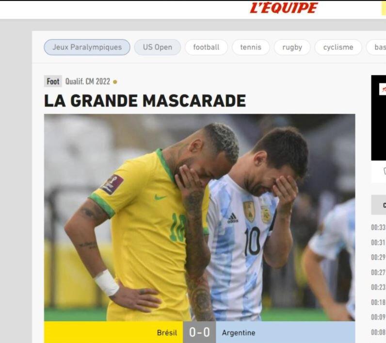 واکنش رسانههای دنیا به اتفاق عجیب بازی برزیل - آرژانتین +تصاویر