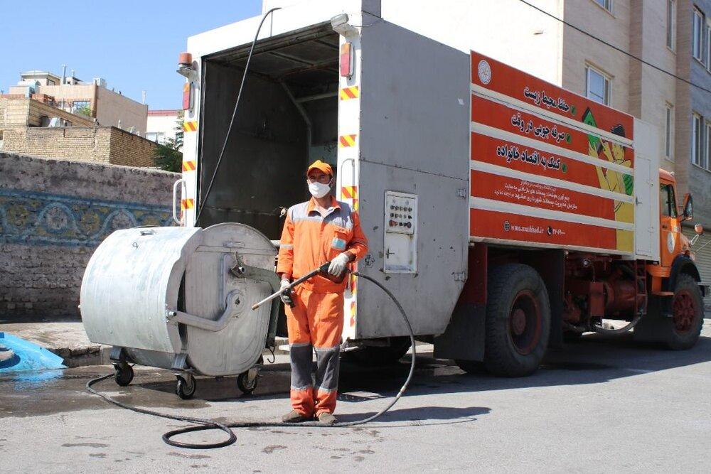 نوسازی بیش از  ۲ هزار مخزن زباله در سطح شهر مشهد