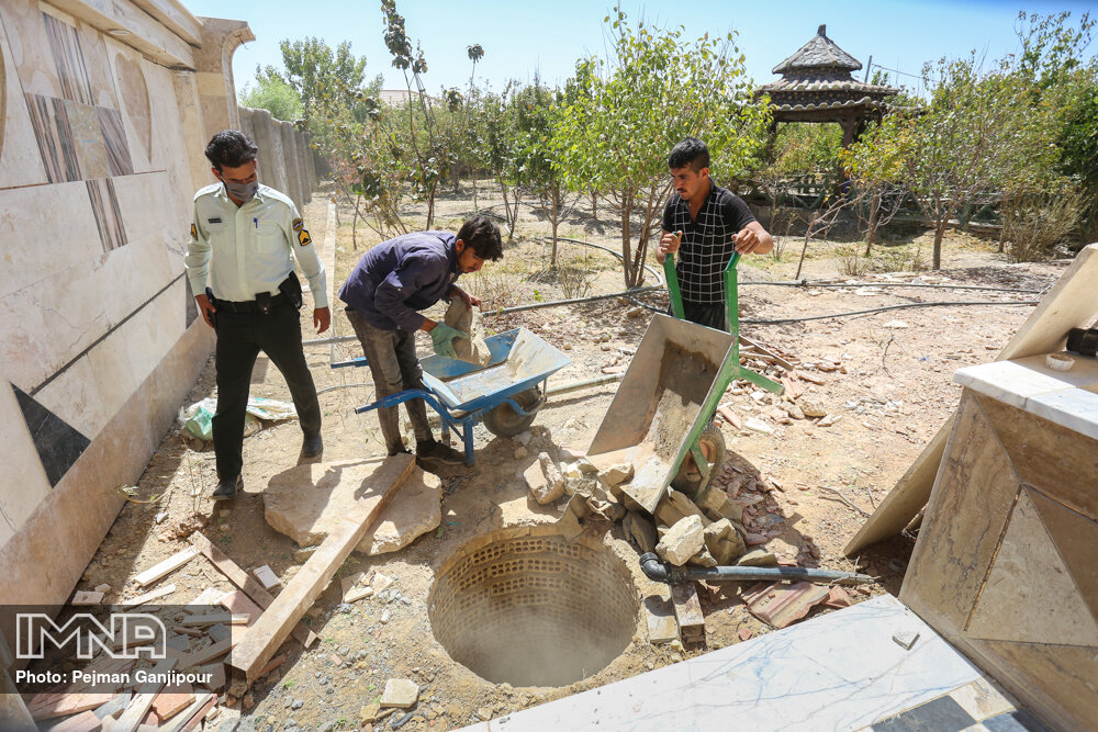 مسدودکردن چاه های غیرمجاز در اصفهان