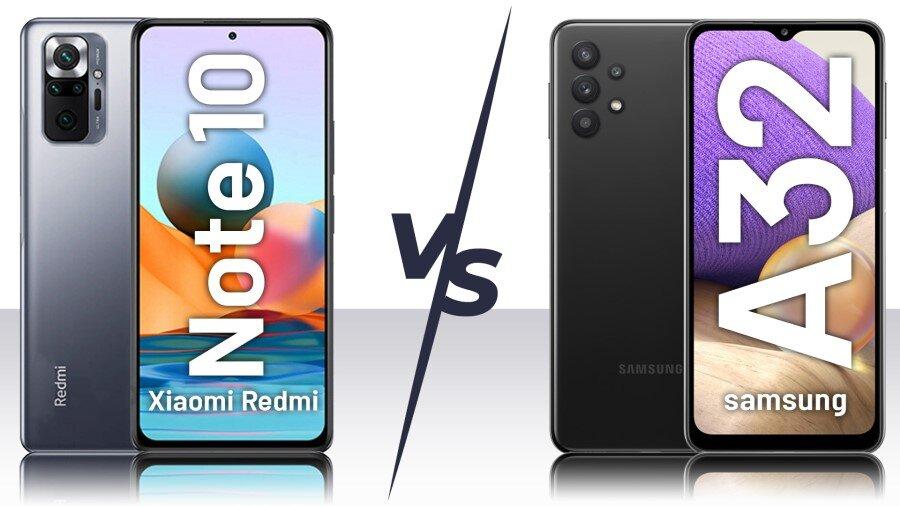 مقایسه گوشی شیائومی Redmi Note 10 و سامسونگ Galaxy A32+ لیست جزئیات