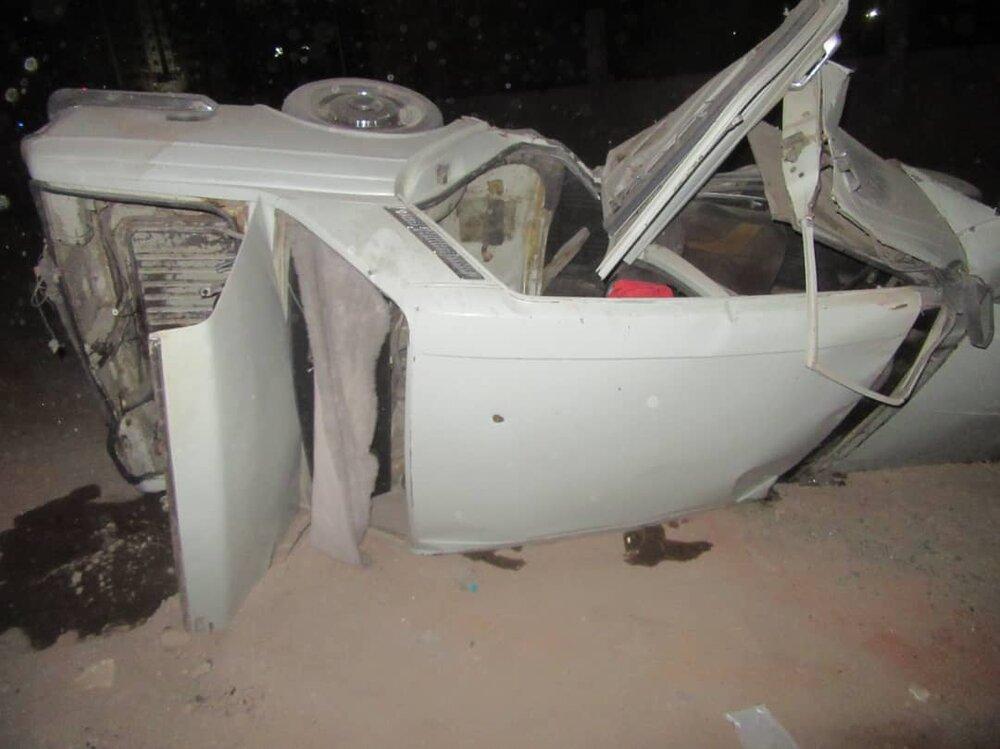 واژگونی پیکان در شهرک شهید کشوری حادثهساز شد+عکس