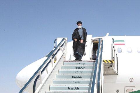 رئیس جمهوری وارد طبس شد