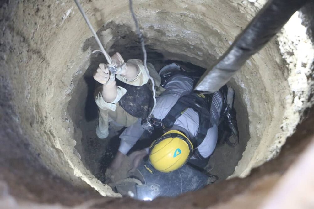 سقوط مرگبار کارگر جوان تبعه خارجی در چاه ۷ متری+ عکس