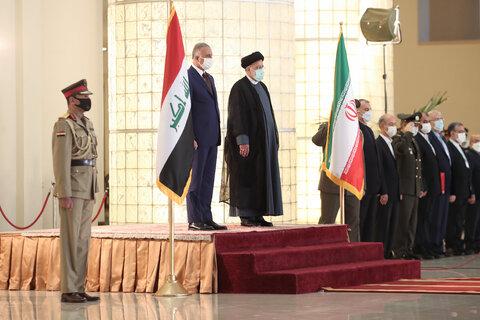 استقبال رسمی رییسی از نخست وزیر عراق