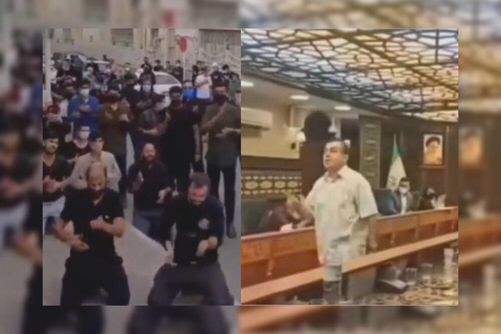 رقص در صحن علنی و سینهزنی مردم در مقابل ساختمان شورا+ واکنشها و فیلم