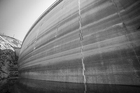 ارتفاع پست در تاج سد زاینده رود