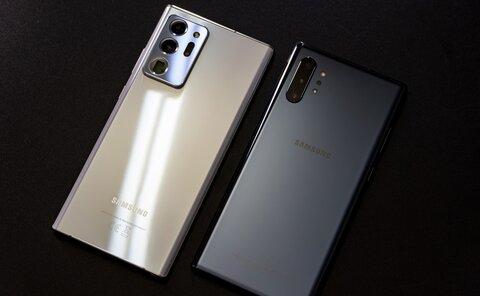 مقایسه گوشی سامسونگ Galaxy Note 10 Plus و Galaxy Note20 Ultra+ لیست جزئیات