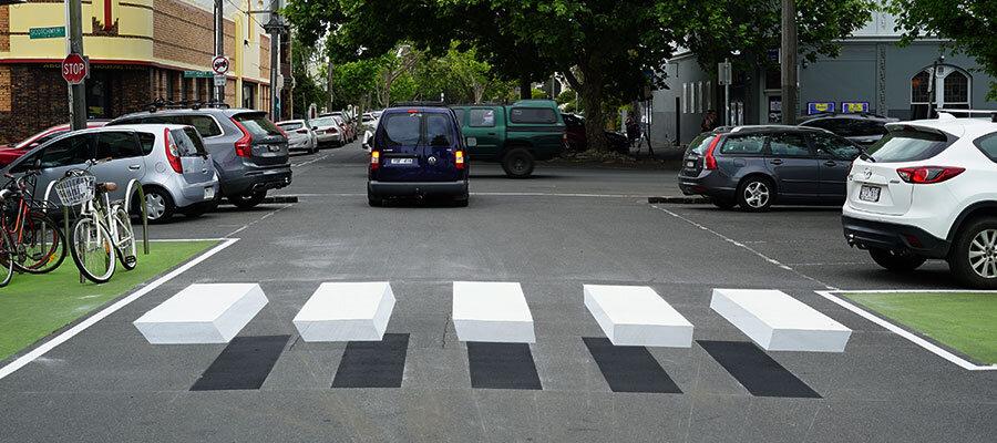 دانمارک میزبان خطوط عابر پیاده سه بعدی