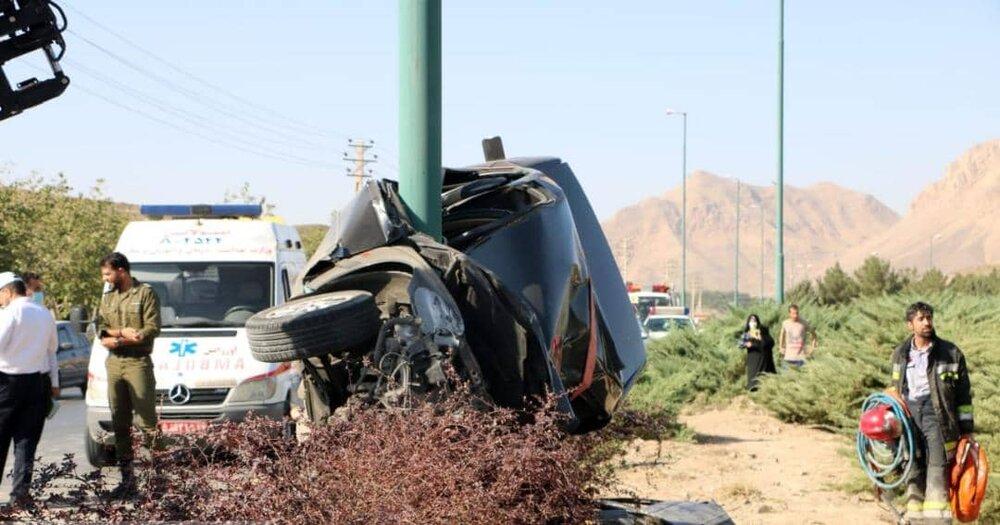 تصادف هولناک ۲ خودرو در اتوبان شهید کشوری+ عکس