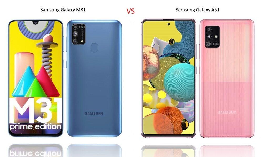 مقایسه گوشی سامسونگ Galaxy A51 و Galaxy M31+ لیست جزئیات