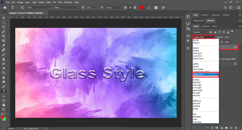 چگونه در فتوشاپ استایل شیشهای بسازیم؟+ آموزش تصویری