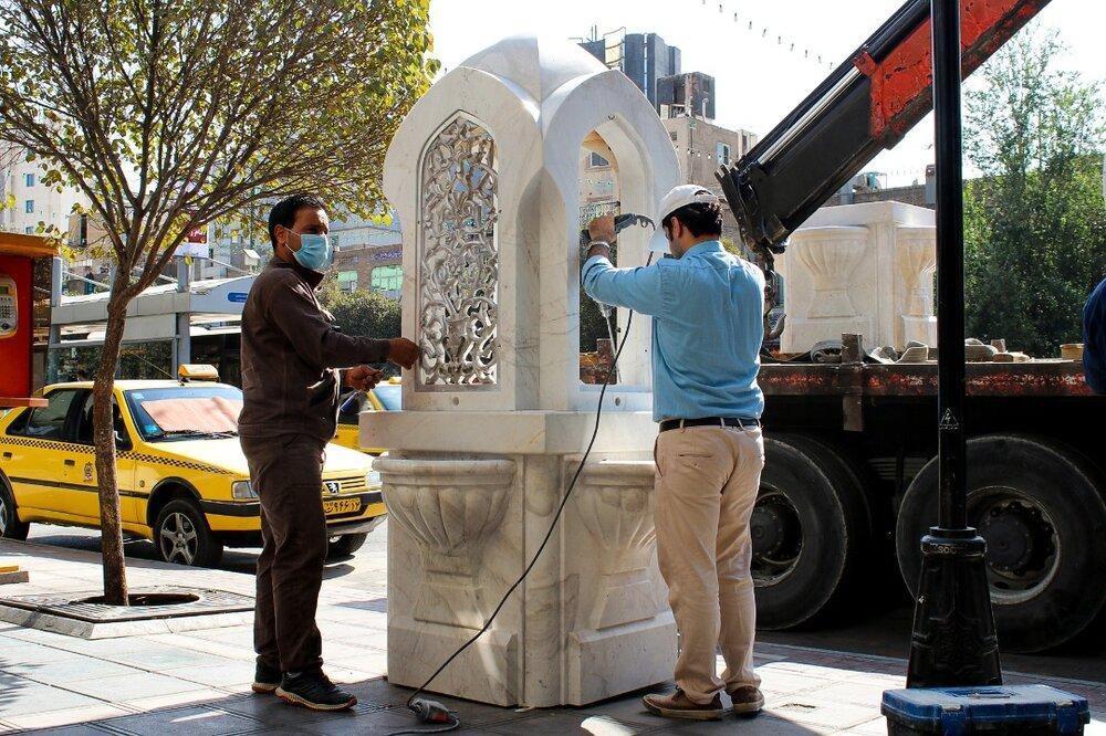 نصب آبخوری سنگی جدید در ۴۵ نقطه پرتردد کلانشهر مشهد