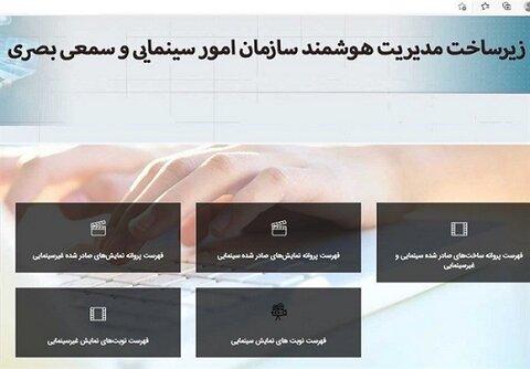فهرست پروانه ساخت، نمایش و گواهی مالکیت سینمایی آنلاین شد