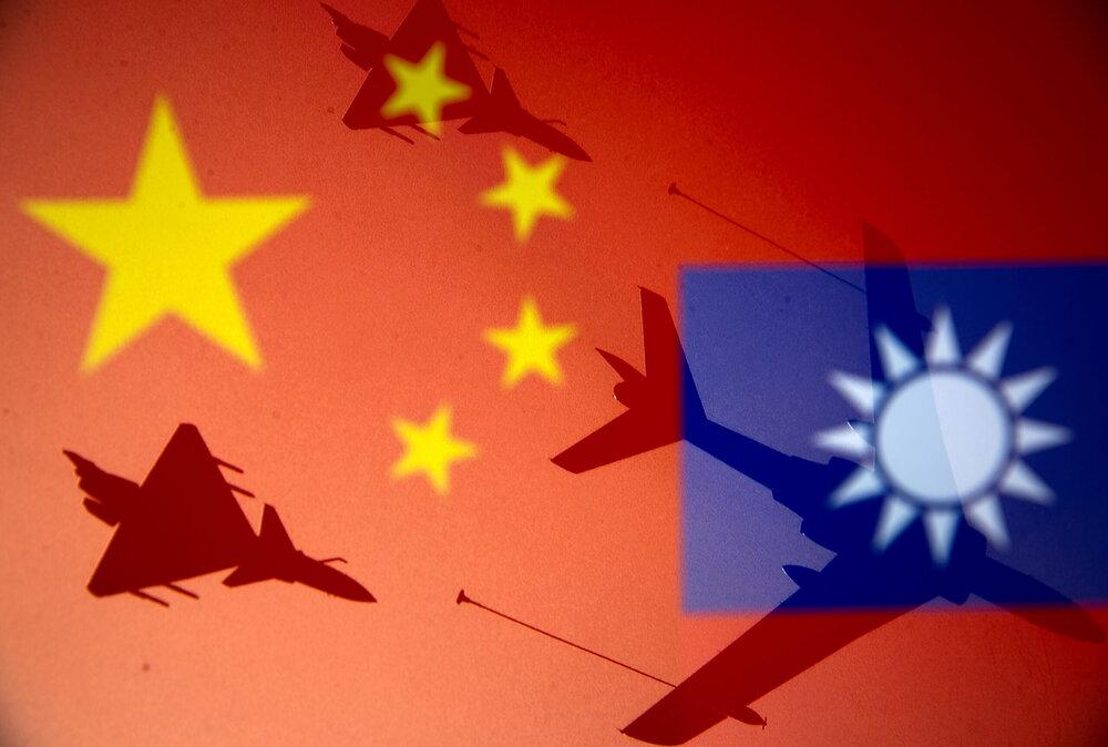 جولان جنگندههای چینی بر فراز آسمان تایوان
