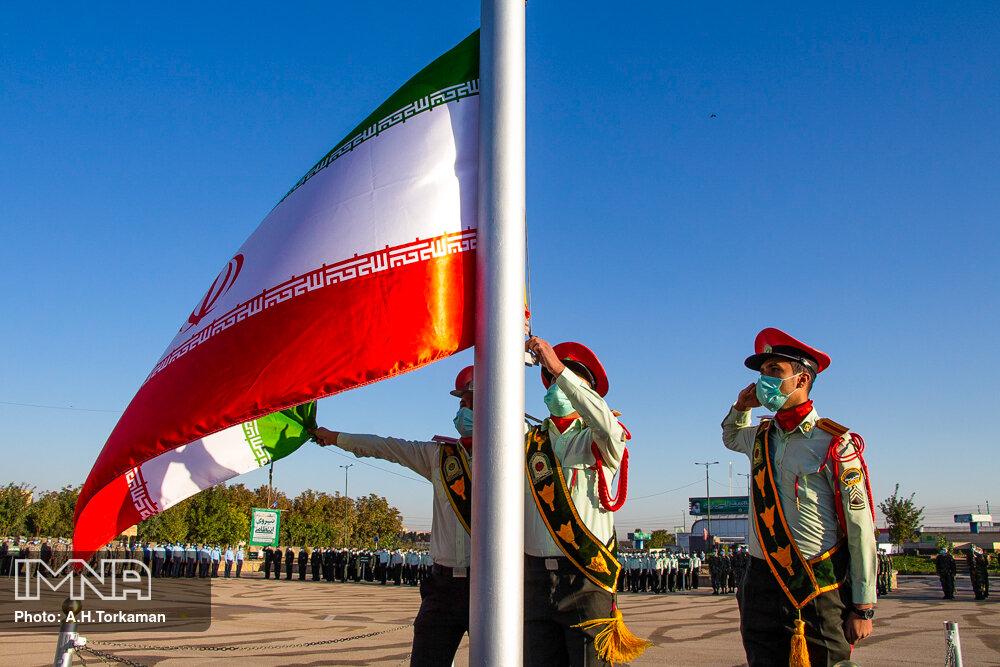 مراسم صبحگاه مشترک نیروهای مسلح - همدان