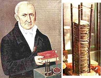 """زادروز """"الساندرو ولتا"""" مخترع باتری"""