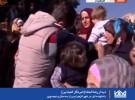 دیدار خبرنگار المیادین با خانواده اش در شهر الزهرا