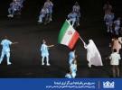 رژه پرچمدار کاروان پاراالمپیک ایران با لباس احرام