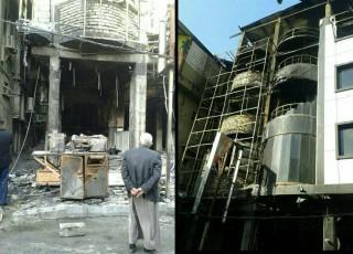 انتقال دو مجروح ایرانی حادثه آتش سوزی هتل در کربلا به آی سی یو