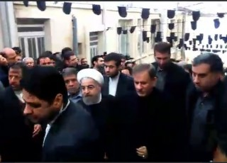 روحانی وارد حسینیه جماران شد