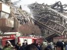 لحظه فرو ریختن ساختمان پلاسکو در خیابان جمهوری تهران